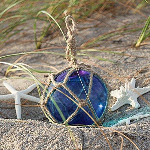 Float-glas (Nautisches Crush Trading Kobalt Blau Glas Float Ball groß | Angeln Boje Bälle 12,7cm | Perfekt für Beach Hochzeiten Oder als Weihnachtsschmuck |, TM)