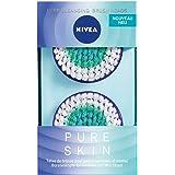 Nivea Pure Skin Deep Cleansing borstelkop (2 x 2 borstelkoppen), opzetstuk voor de elektrische gezichtsreinigingsborstel, gez