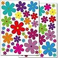 Wandkings WS-50052 Blumen Design 3 Wandsticker Set, 62-Aufkleber, 2 DIN A4 Bögen, Gesamtfläche 60 x 20 cm von Wandkings auf TapetenShop