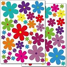 Pegatinas flores for Plantas decorativas amazon
