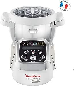 Moulinex HF802AA1 Robot Cuiseur Multifonction Companion – 6 programmes automatiques, 5 accessoires inclus, capacité jusqu'à 6 personnes, 1 million de menus