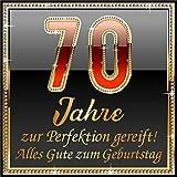 3 St. Aufkleber Original RAHMENLOS® Design: Selbstklebendes Flaschen-Etikett zum 70.