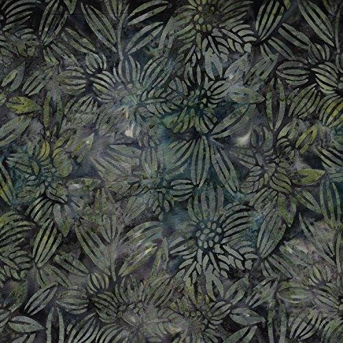 Fabric Freedom Sage Green-Design 100% Baumwolle, Batik Bali gebatikt aus Stoff für Patchwork- und Quilt- und Bastelarbeiten (Preis pro Viertel-Meter) -