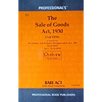 Sale of Goods Act, 1930 with overview Flowchart