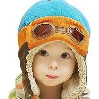 EDOTON Cappello del Bambino Berretto Beanie Pilot Bambini Invernale Caldo Cappello con Orecchie per Cappelli da Bambino…