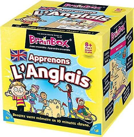 Asmodee - BBENGLISH - Brainbox - Apprenons Anglais - Jeu d'Action et de Reflexe