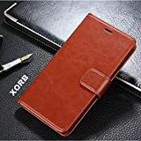 XORB® Comio P1 Flip Cover PU Leather Case Premium Luxury Revel Touch PU Leather Cover for Comio P1 Brown