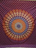Indian Mandala Wall Hanging Tapestry, Hippie Hippy Tapestries, Feather Tapestry, Cotton Handmade Badsheet, Twin Size Bedding Bedspread, Picnic Beach Sheet, Table Cloth, Decorative Wall Hanging … B01IM1UPWG
