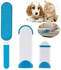 Nasharia Pet Pinsel, Haustier Fell Fussel Bürste Haarentferner Fellpflege von Hunde Katzen Haarroller Reinigungsbürste Pflegewerkzeug Pelzentferner (Blau)