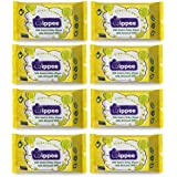 Wippee 30N Usable Baby Wipes With Almond Oil ( Pack Of 8)