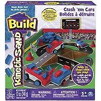 Kinetic Sand BUILD - Playset con Arena cinética y bólidos para Destruir (Spin Master 6026967)