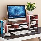 XUE Regal Computer Monitor/TV / Drucker Widescreen-Hebebühne, Holz-Paneele, Desktop Storage Finishing Rack - (Farbe : 3#)
