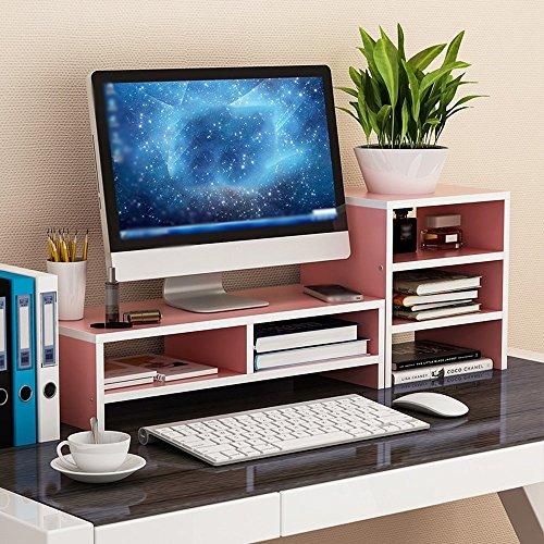 Widescreen-tv-ständer (XUE Regal Computer Monitor/TV/Drucker Widescreen-Hebebühne, Holz-Paneele, Desktop Storage Finishing Rack - (Farbe : 3#))