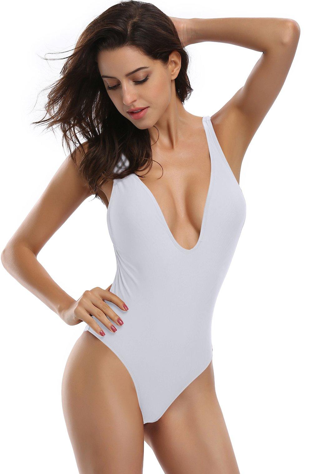 SHEKINI Donne Un Pezzo Bikini Donna High Cut Costume Intero Mare e Piscina Costumi da Bagno Donna Intero Beachwear… 3 spesavip