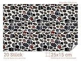 GRAZDesign 766082_25x15_70 Fliesenaufkleber Bunte - Stein - Optik | mit Fliesenbildern die Fliesen-Wände überkleben (Fliesenmaß: 25x15cm (BxH)//Bild: 105x70cm (BxH))