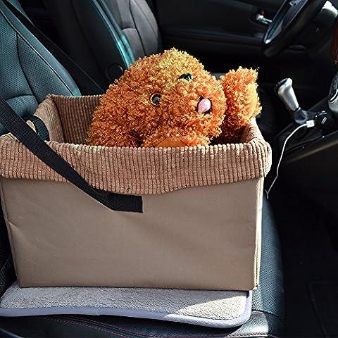 Siège pliant de voyage voiture Pet transporteur chien chat chiot de voyage sac avec ceinture de sécurité, confort Waterloo Matière imperméable lavable en machine