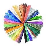 Aibecy 3D Pen PCL Filament Low Temperature 3D Printing Refill 1.75mm Recyclable Environmentally Suitable for DW-X4-2.0 3D Printing Pen 5m/16.4ft each 10pcs (10 Random Colors)