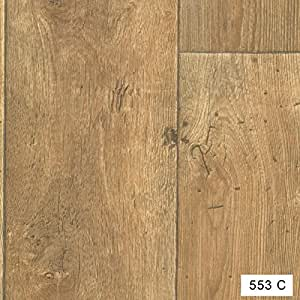 533c wood effect anti slip vinyl flooring home office for Bathroom lino wood effect