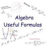 Algebra Useful Formulas