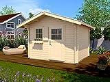 Weka Blockbohlenhaus 45 mm Gartenhaus 131 Gr.1 natur 300x320cm Sparset