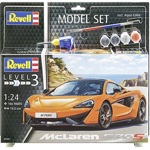 Revell Modellbausatz Auto 1:24 - McLaren 570S im Maßstab 1:24, Level 3, originalgetreue Nachbildung mit vielen Details, Model Set mit Basiszubehör, 67051