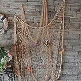 KING DO WAY Fischnetz mit Schöner Muscheln Anker mediterranen stil fischerei dekorative netze hintergrund Wand deko bar home decor Maritimes Deko Weiss