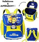 Unbekannt Schulranzen -  Minions - Ich einfach unverbesserlich  - SUPERLEICHT & ergonomisch + anatomisch - Schulrucksack / mit Reflektor - Tasche - wasserfest & Besch..