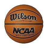 Wilson Pelota de baloncesto de exterior, Superficies ásperas, Asfalto, Pavimentos sintéticos, Tamaño 6, NCAA STREET SHOT, Marrón, WTB0946XB