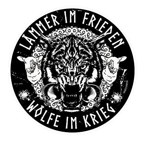 Preisvergleich Produktbild Lämmer im Frieden-Wölfe im Krieg Wikinger Walhalla Aufkleber Autoaufkleber Sticker Vinylaufkleber Decal