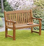 Sun Time Balmoral 2-Seat Bench in Nyatta Hard Wood