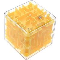VANKER Adulte Enfant Élégant 3D Dédale Cube Magique Roulement Jeu Puzzle de Défi Jaune