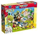 Lisciani Giochi 48267 - Mickey Puzzle Doppia Faccia Supermaxi, 108 Pezzi