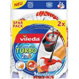 Vileda Turbo 2 en 1 EASYWORLD Anillo y Clean cabezal de repuesto Pack Doble, 2 unidades