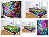 Future Handmade Twin Tapestries Indian Handmade Multi Colour Tie Dye Forest Tapestry Wall Hanging Hippies Tapestry Picnic Sheet Yoga Mat Bohemian Tapestry Home Decoration Cotton Bedspread