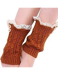 SHANGWU Womens Ladies Winter Shoes Bootie Flock Warm Snow Boots Fur Lined Chunky Block Heel Mid Heel Ankle Booties Outdoor Short Bootie Vintage Calf Boots