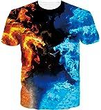 Loveternal Unisex T-Shirt 3D Drucken Sommer Beiläufige Grafik Kurzen Ärmeln