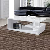 ROSA Designer Square Coffee Table White High Gloss Finish!!Free Delivery!!