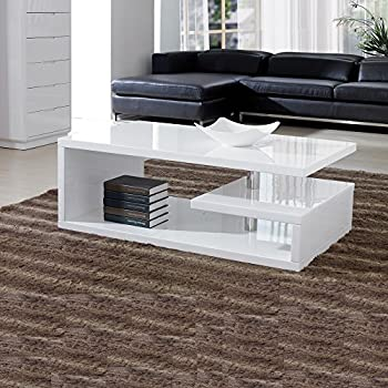 Amazing Designer Square Coffee Table White High Gloss Finish!!Free Delivery!