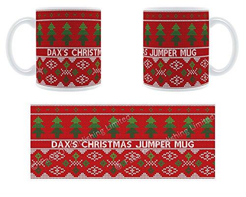 Dax's Tasse Pull de Noël Motif arbres de Noël Motif Chunky Mug en céramique personnalisé