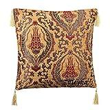 Züleyha Kissenbezug Kissenhülle Sitzkissen Kissen cushion cover orientalisch osmanische 45x45 cm (Beige 058-ylh)