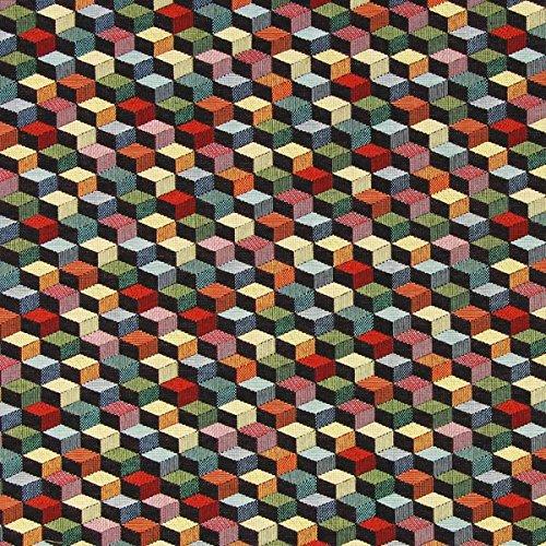 Gewebter Stoff Kissen (Fabulous Fabrics Gobelin Excalibur schwarz - Meterware ab 0,5m - zum Nähen von Kissen, Vorhänge und Stühle)