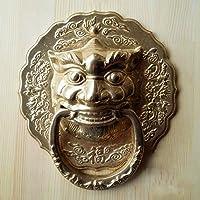 Collector cinese antico legno massello maniglie delle porte alle rame