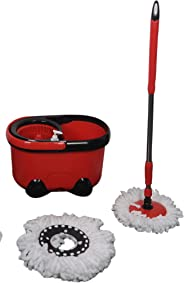 HOME PRO SPIN MOP FULL SET INCLUDES: ONE BUCKET, ONE POLE, AND TWO MOP HEADS,