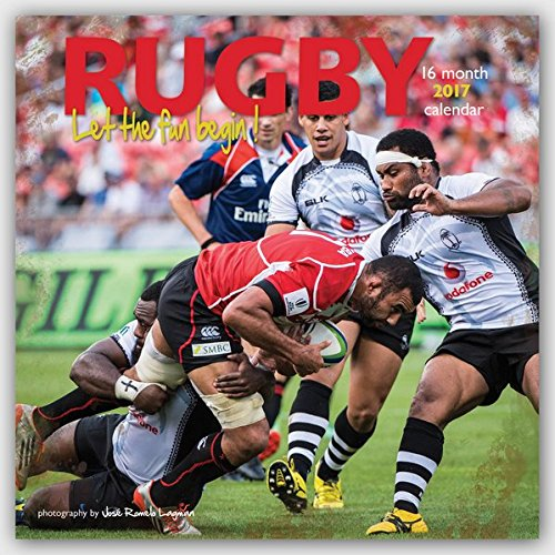Rugby 2017 - 12-Monatskalender: Original BrownTrout/Wyman Publishing-Kalender