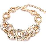 Bracciale per donna, anelli Bracciale a catena per ragazze Bracciale in oro e argento placcato braccialetto Coppie Friends Br