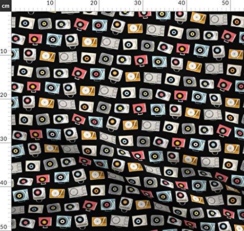 Musik, 80Er Jahre, Geek Chic, Retro, Vintage, Rock'n'roll Stoffe - Individuell Bedruckt von Spoonflower - Design von Pennycandy Gedruckt auf Minky Retro-chic Quilt