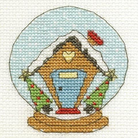 Palla di neve Mini Kit per punto croce - Dmc Palla