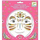 Djeco Kreativmappe Gesichts Sticker Body Art Goldene Prinzessin