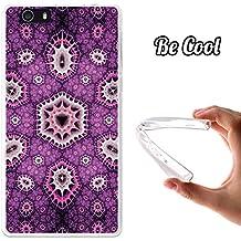 Becool® Fun - Funda Gel Flexible para Elephone M2, Carcasa TPU fabricada con la mejor Silicona, protege y se adapta a la perfección a tu Smartphone y con nuestro exclusivo diseño. Caleidoscopio morado