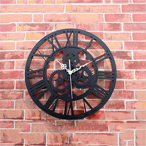 Nombre del producto: estilo europeo. Antiguo. Reloj de pared grande de engranajes  Tamaño del aspecto: cerca de 30cm de diámetro  Peso: sobre peso / 1KG  Tipo de movimiento: barrer el movimiento  Tipo de energía: 1 * AA batería (no incluida)  ...